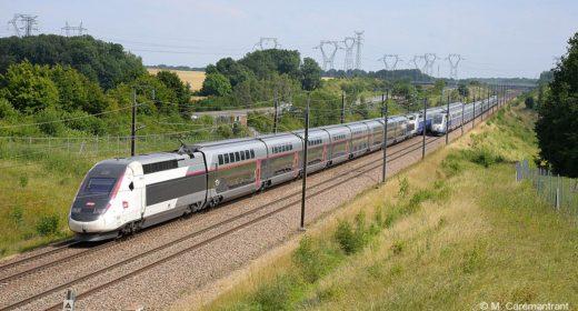 TGV en campagne