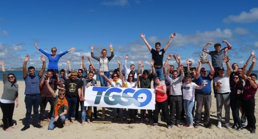 Equipe TGSO sur la plage