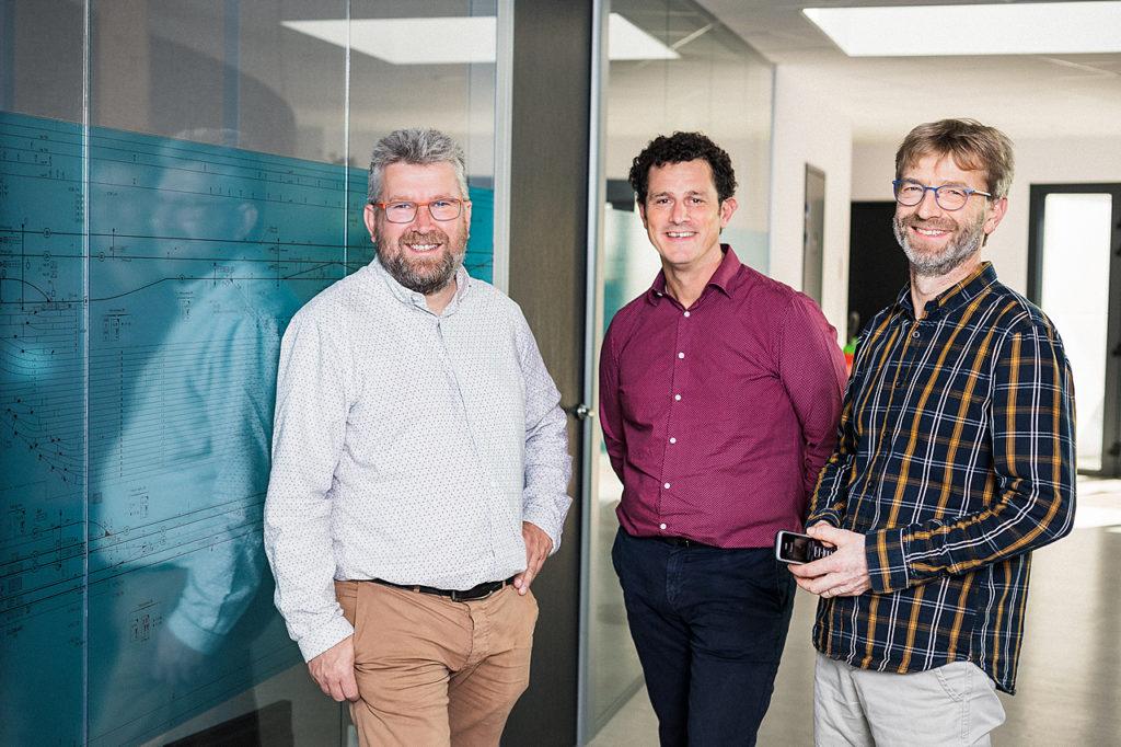 De gauche à droite : Michel Tendron, Hugues Mahé, Didier Trolard